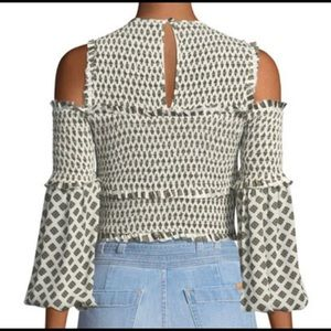 NWT- cinq a sept mini medallion pascal top - XS